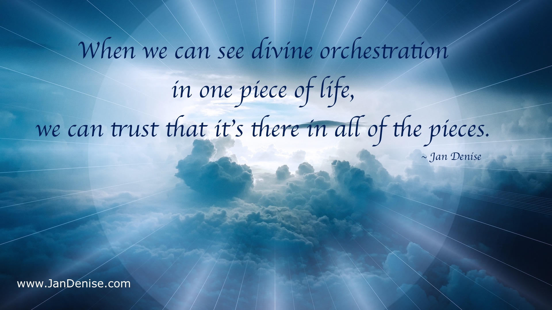 Divine orchestration …