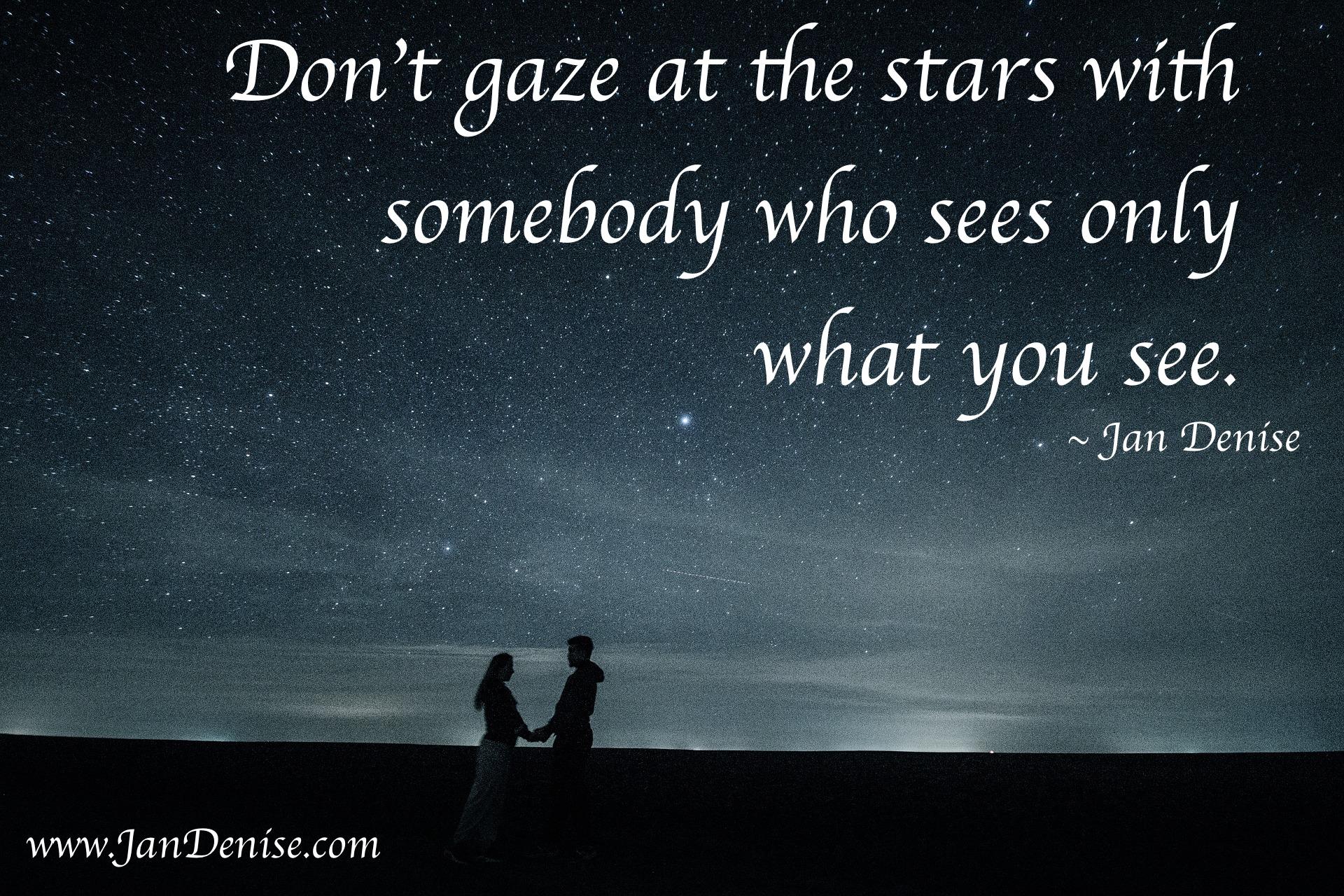 Gaze at something new …