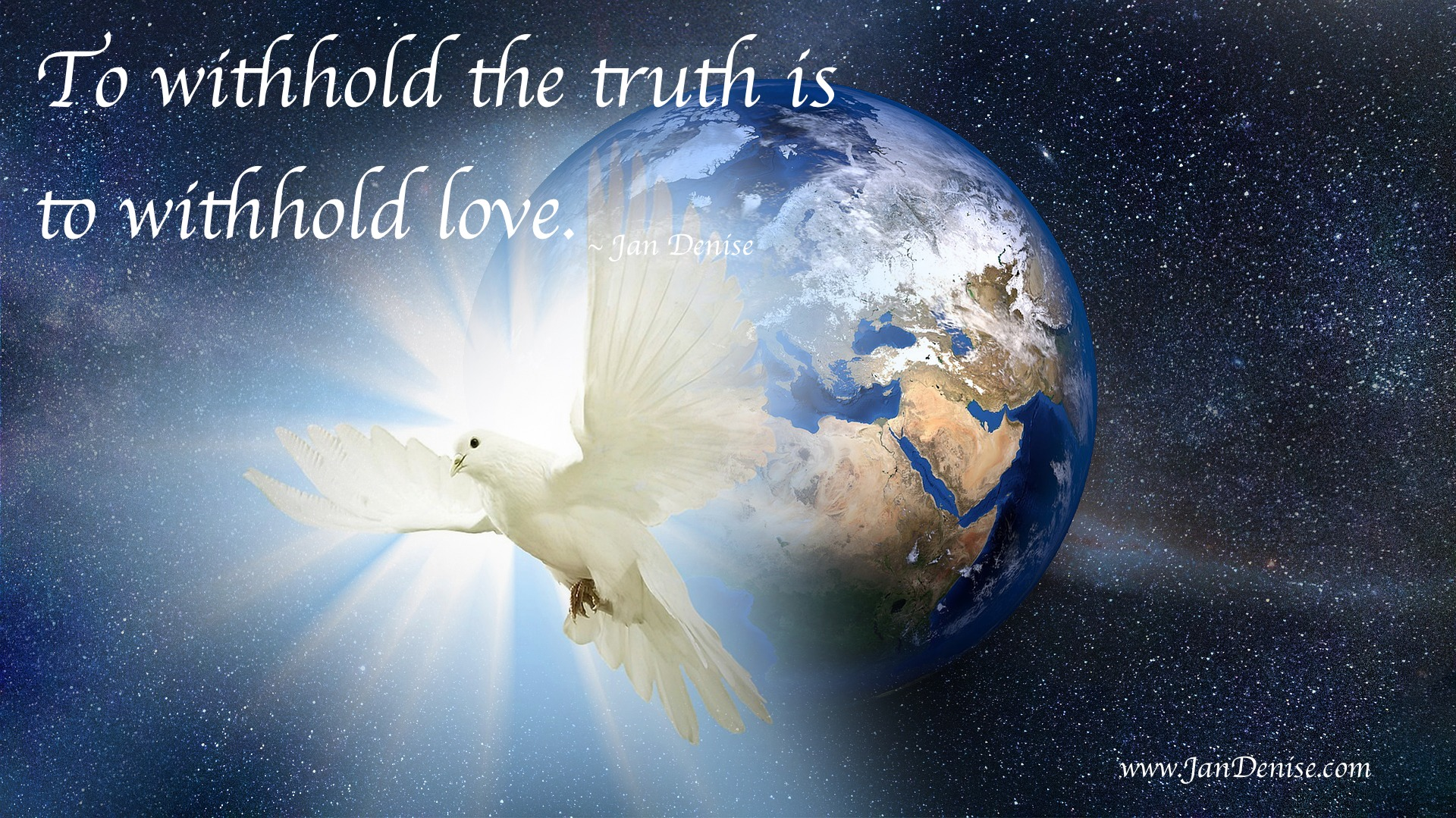 To withhold the truth is to withhold love …