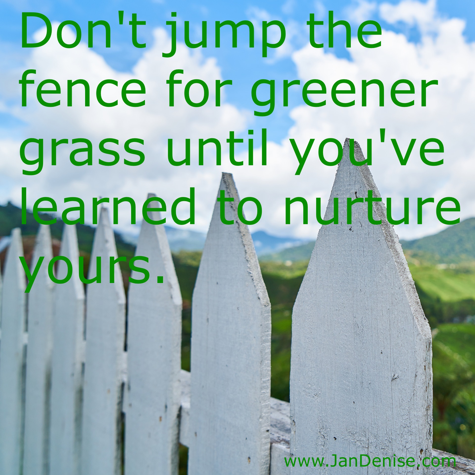 Before you jump …