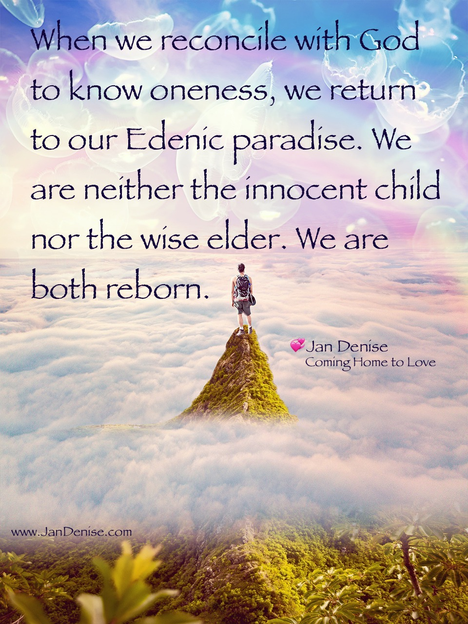 We can know oneness …